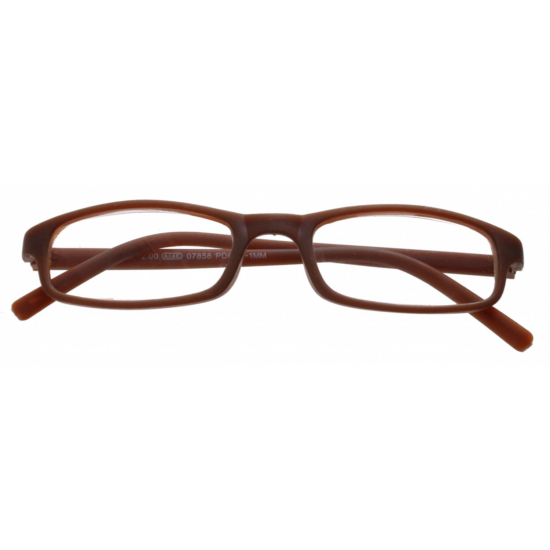 Korting Tom Leesbril Rechthoekig Unisex Bruin Sterkte plus 2.50