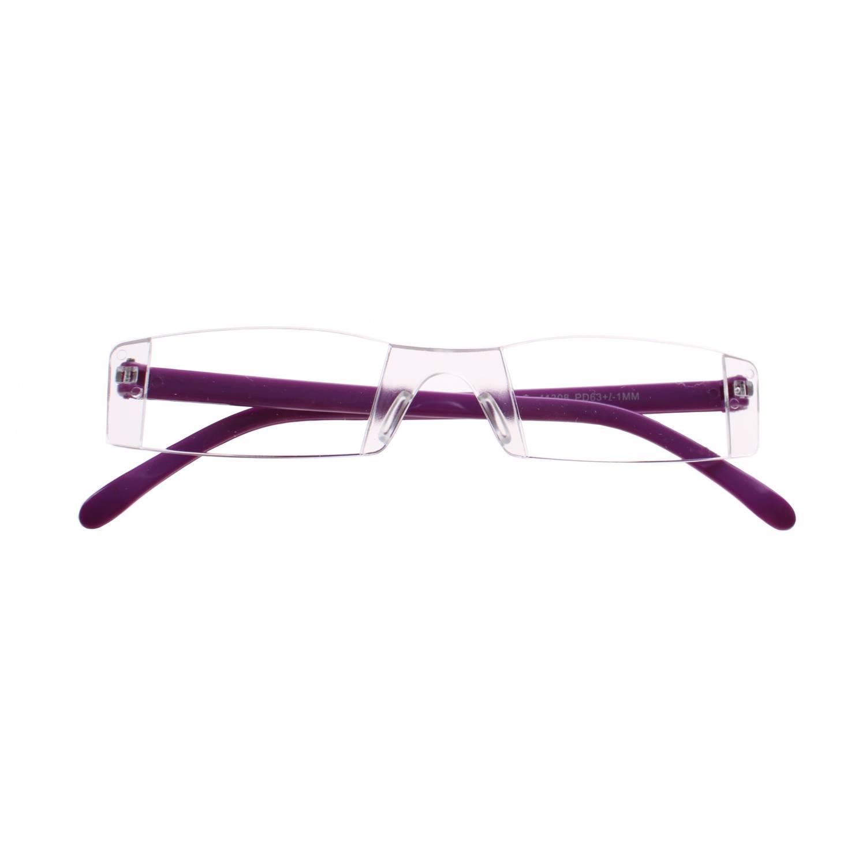Korting Lifetime vision Leesbril Zonder Frame Unisex Paars Sterkte plus 3.00