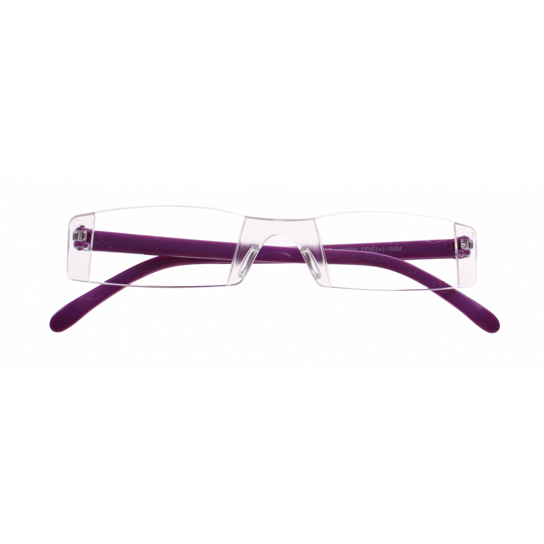 Korting Lifetime vision Leesbril Zonder Frame Unisex Paars Sterkte plus 2.00