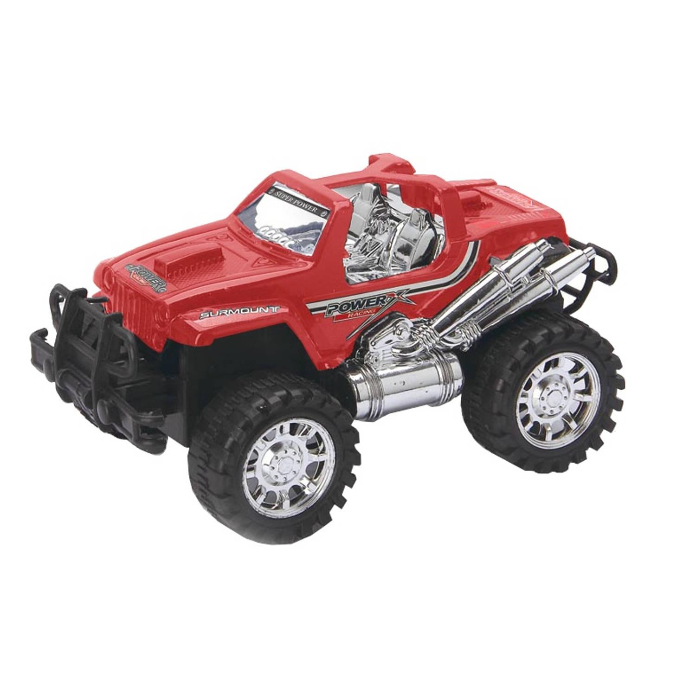 Diakakis Jeep 4x4 powerracing rood 23 cm