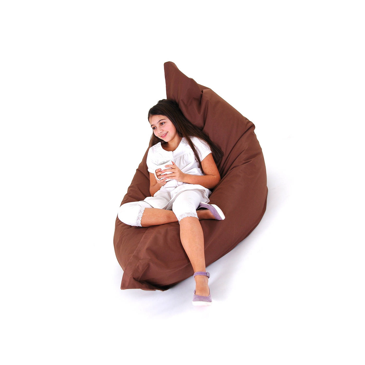 Beliani Bean Bag Big Zitzak Bruin 140 x 180 cm