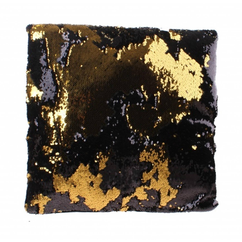 Kamparo kussen met pailletten goud 30 cm