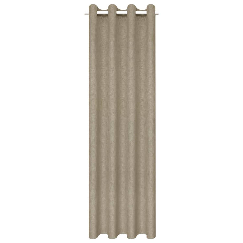 vidaXL Gordijnen linnen-look verduisterend 245x290 cm beige 2 st