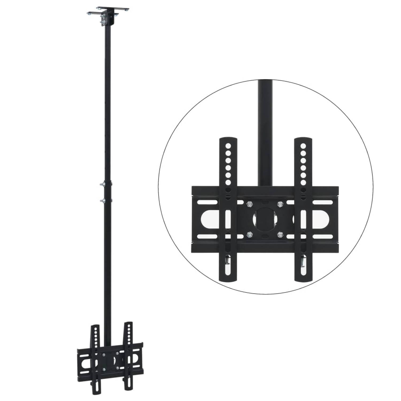 vidaXL Tv-plafondbeugel in hoogte verstelbaar 23-42