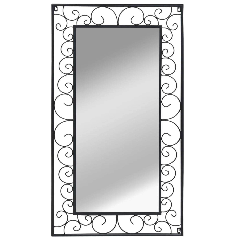 vidaXL Wandspiegel rechthoekig 60x110 cm zwart
