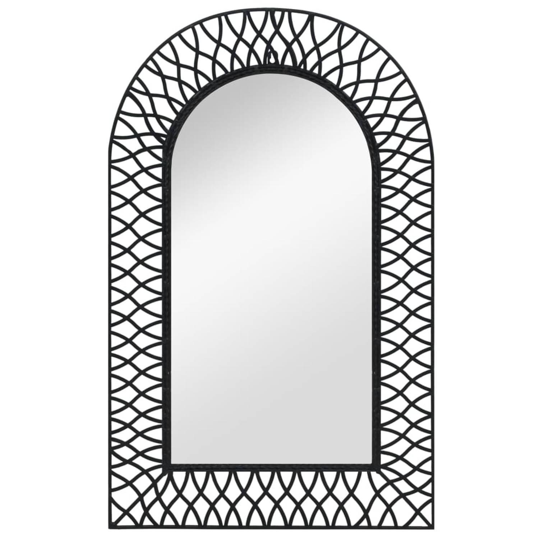vidaXL Wandspiegel gebogen 50x80 cm zwart