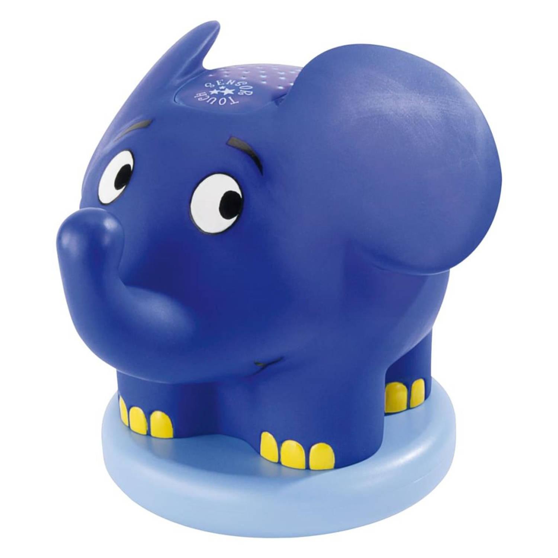 Ansmann Nachtlampje met projectie en muziek olifant blauw 1800-0015