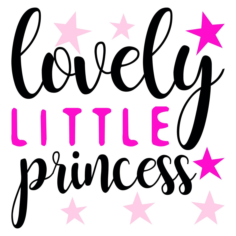 Kids Decor muursticker Lovely Princess meisjes 2 stickervellen