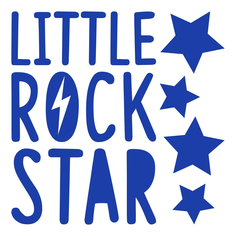 Kids Decor muursticker Little Rock Star junior 2 stickervellen