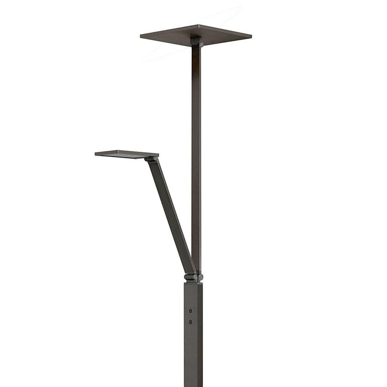 Highlight Vloerlamp Stockholm mat zwart vierkant met arm