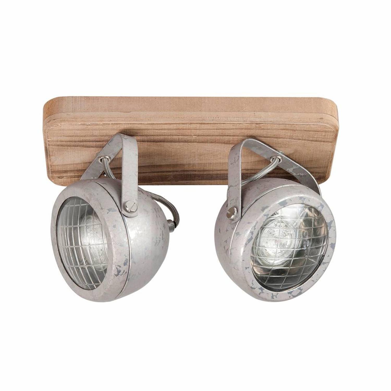Highlight Spot Bullet 2 lichts zink-hout