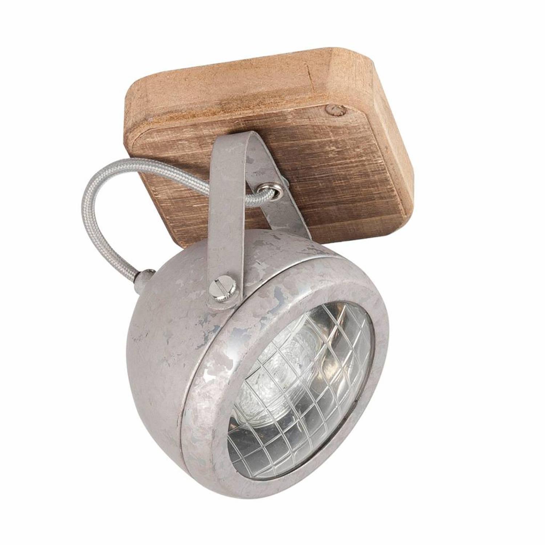 Highlight Spot Bullet 1 lichts zink-hout