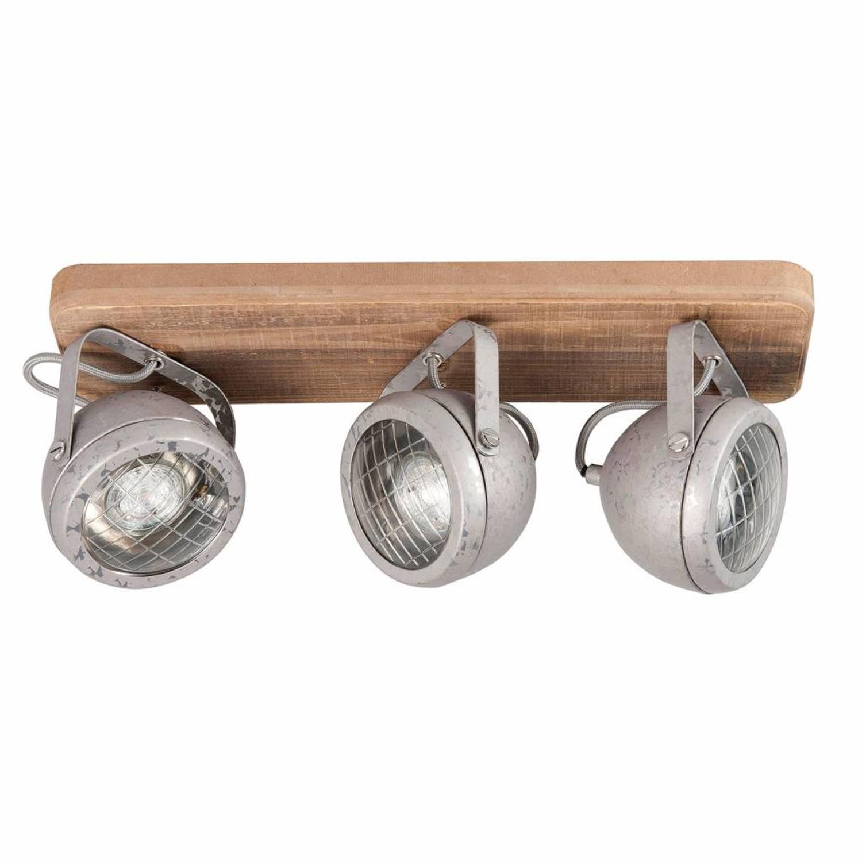 Highlight Spot Bullet 3 lichts zink-hout