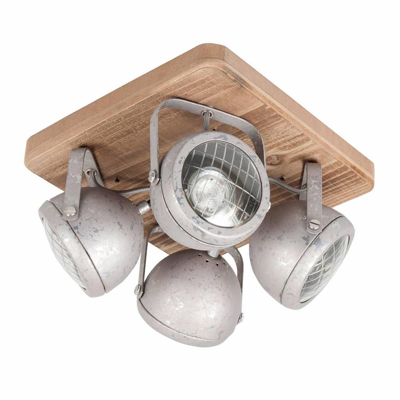 Highlight Spot Bullet 4 lichts zink-hout