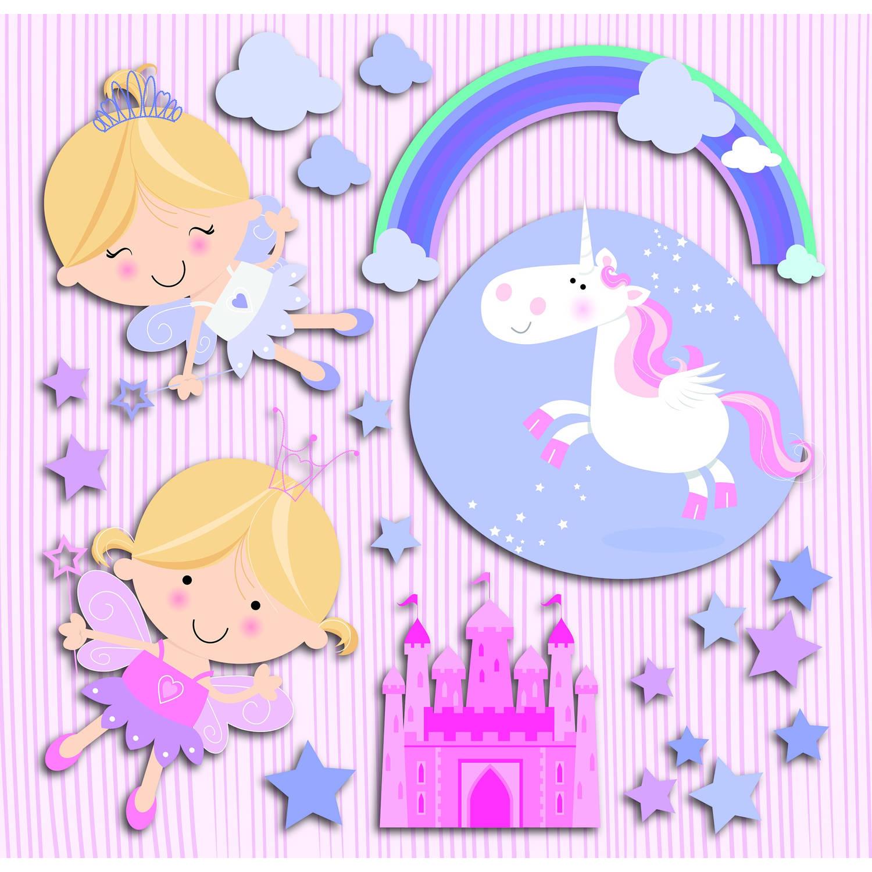 Kids Decor muurdecoratie 3-levels Happy Fairies junior