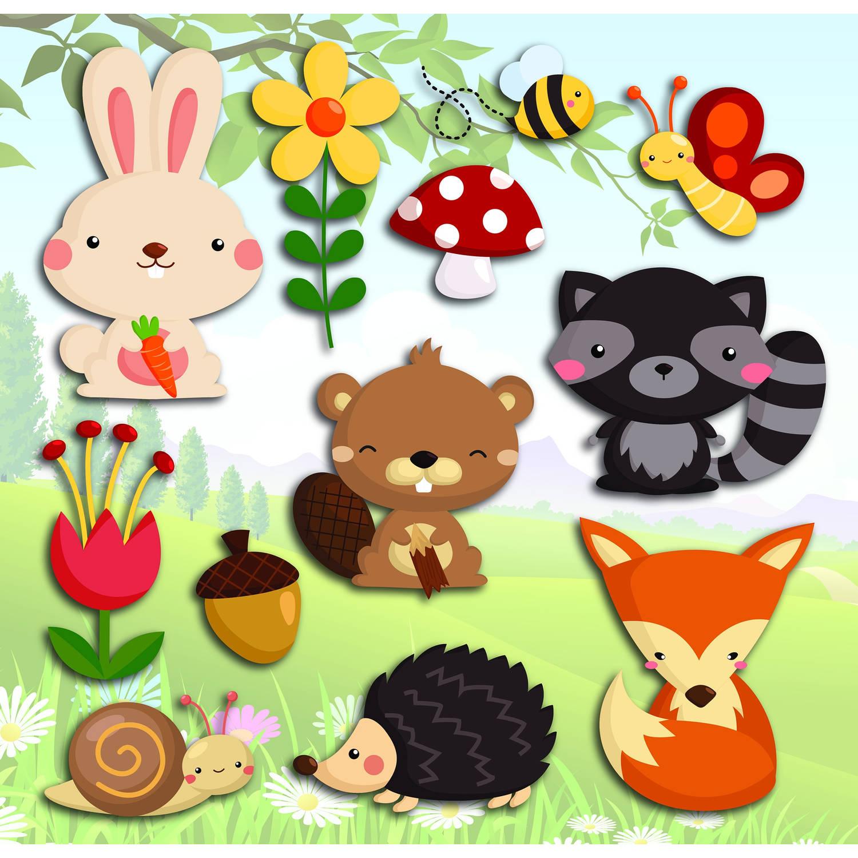 Kids Decor Muurdecoratie 3-levels Happy Forest Junior