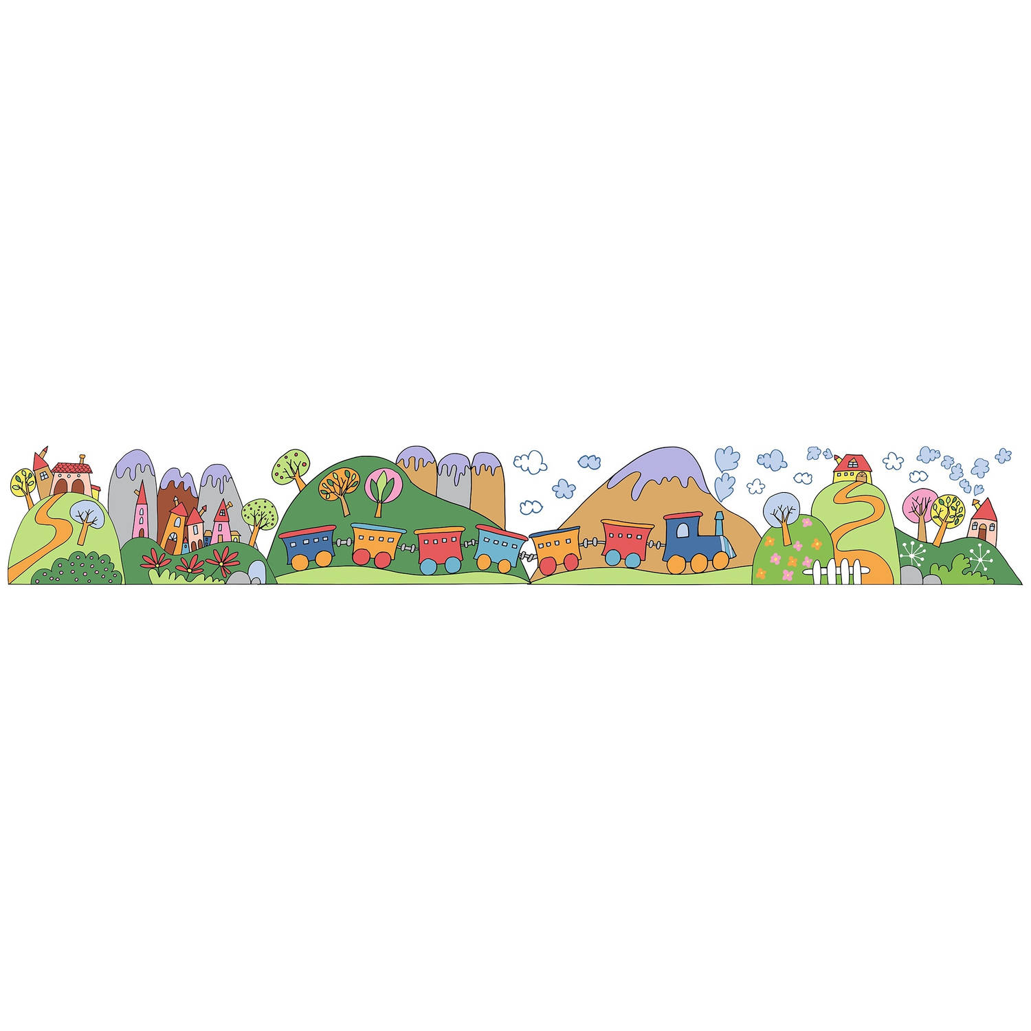 Kids Decor muurdecoratie border Little Train junior