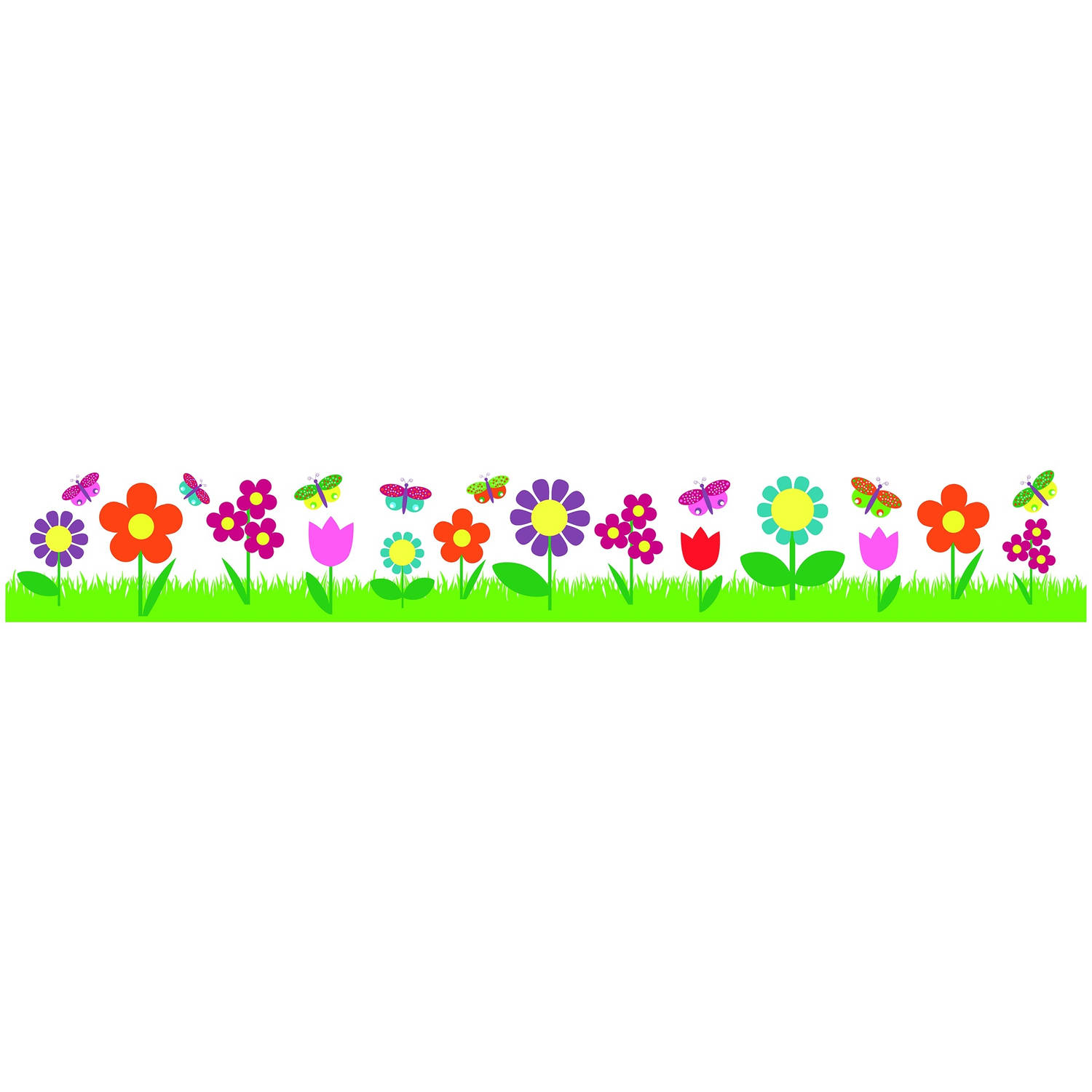 Kids Decor muurdecoratie border Flowers junior