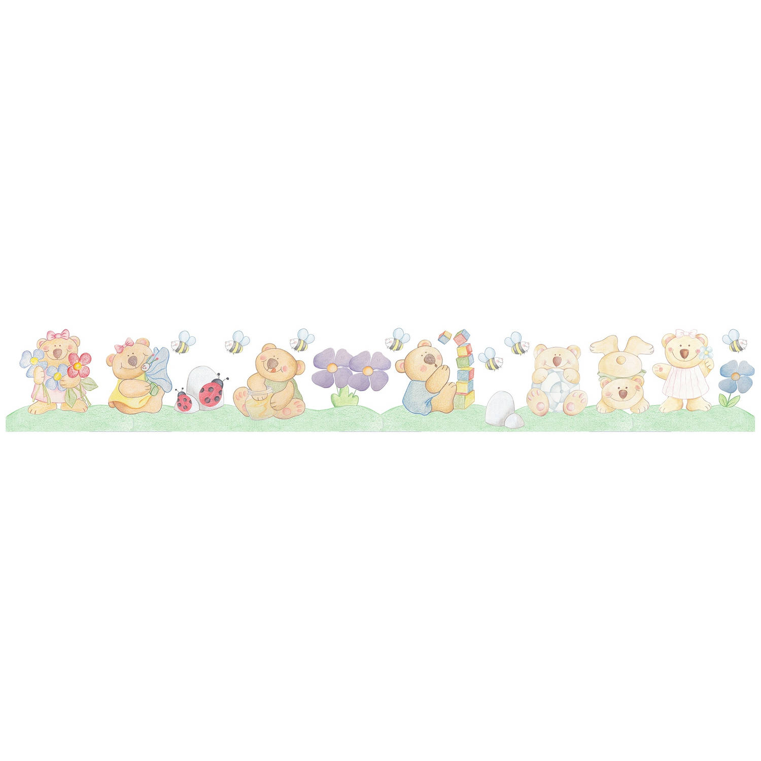 Kids Decor muurdecoratie border Bear Brothers junior