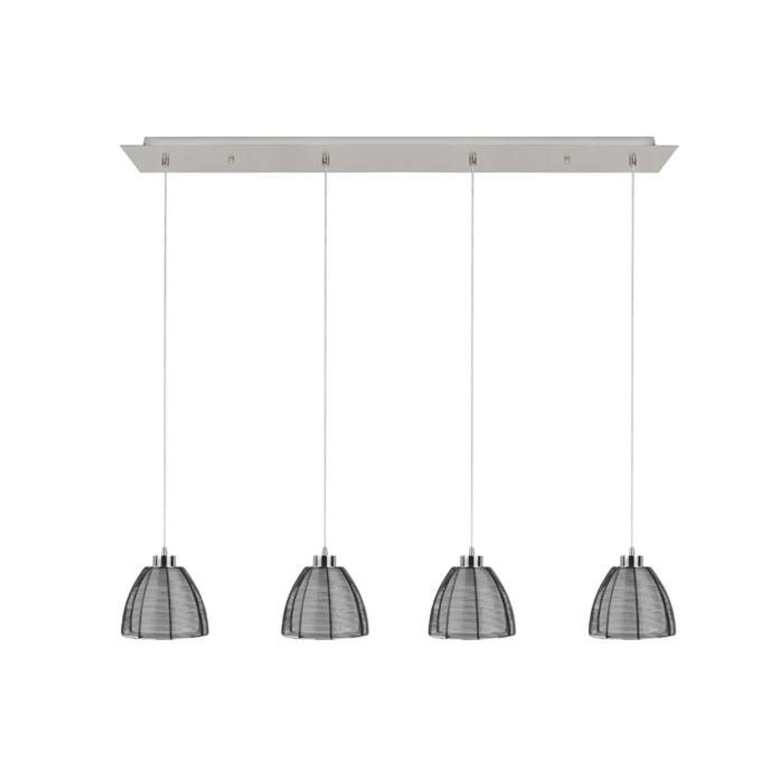Highlight Hanglamp Whires Small zwart 4 lichts