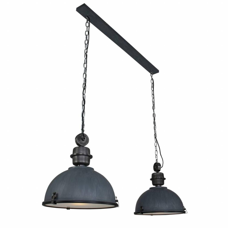 Steinhauer Hanglamp bikkel duo grijs
