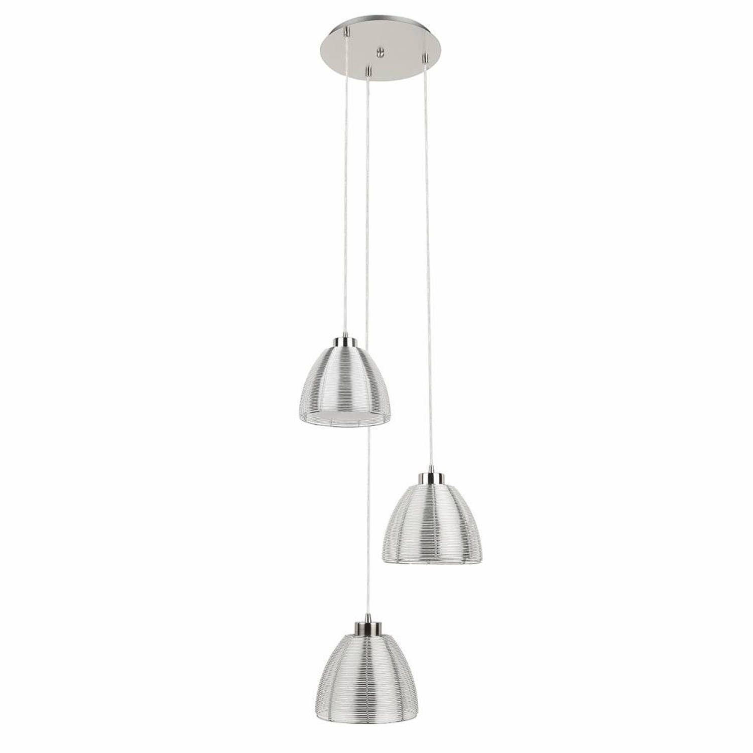 Highlight Hanglamp Whires Small Mat chroom 3 lichts rond