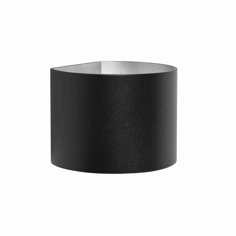 Highlight Wandlamp Round zwart verstelbare bundel