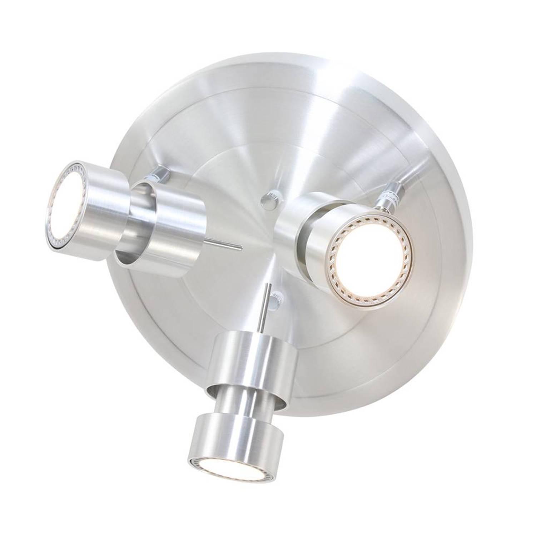Steinhauer Spot Natasja LED aluminium 3 lichts rond