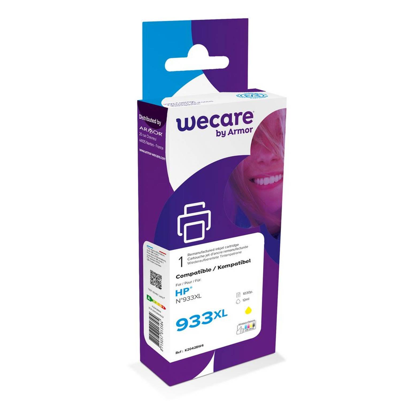 weCare Cartridge HP 933XL Geel