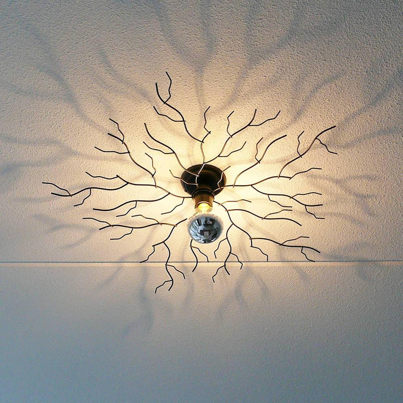 I-Lumen Plafondlamp Bichero groot zwart