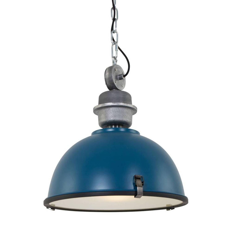 Steinhauer Hanglamp bikkel 42 cm petrol