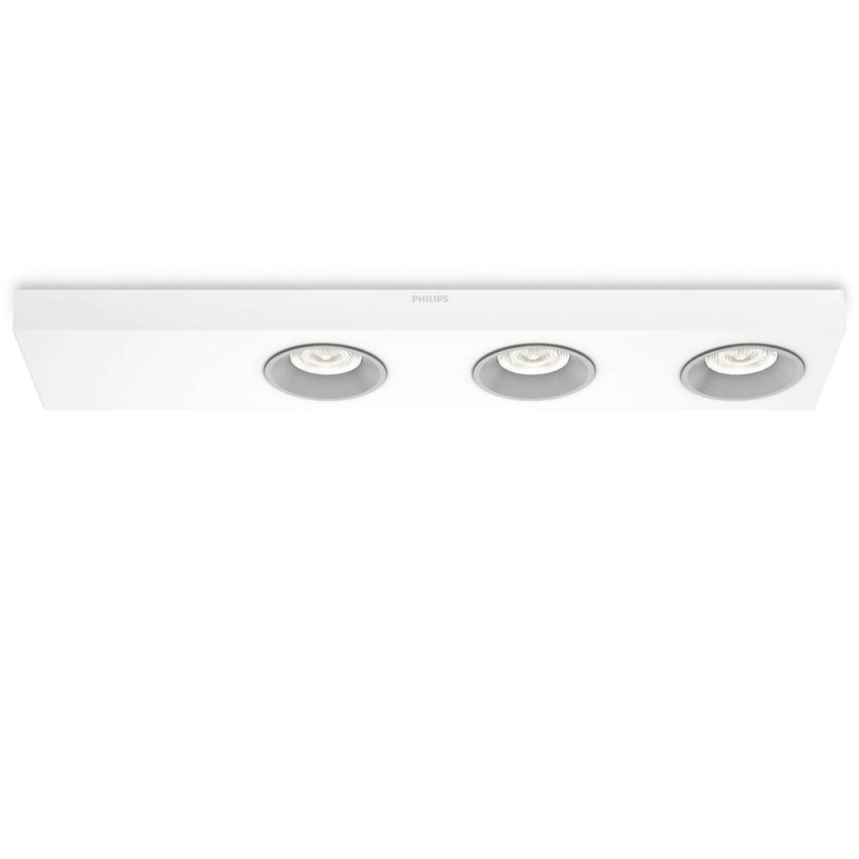 Philips Plafondlamp LED Instyle Quine 3x4,5 W wit 312133116