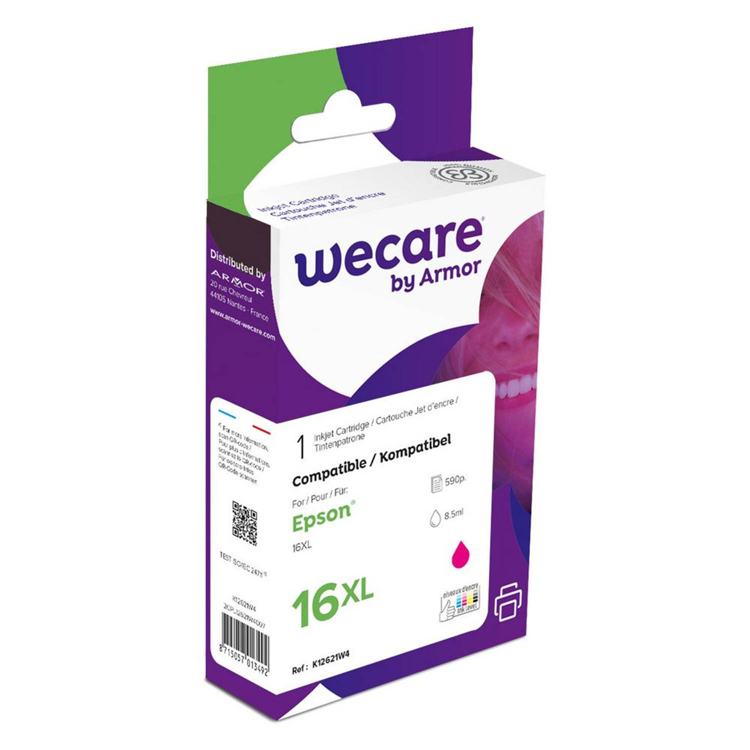 weCare Cartridge Epson T163340XL Rood