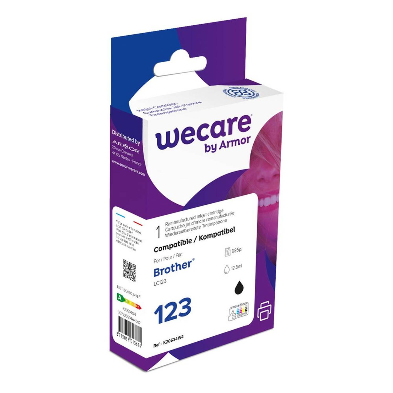 weCare Cartridge Brother LC123 Zwart