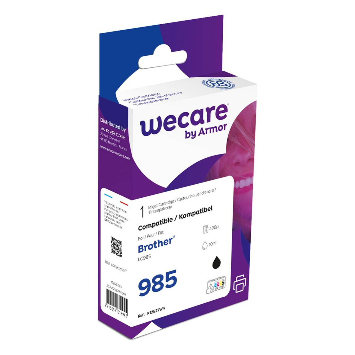 weCare Cartridge Brother LC985 Zwart