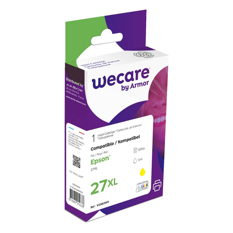 weCare Cartridge Epson T271440XL Geel