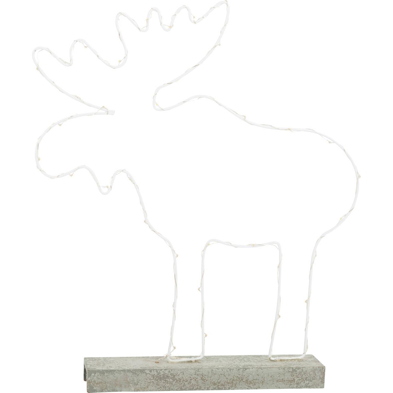 Small Foot decoratieverlichting stalen eland 40 cm wit