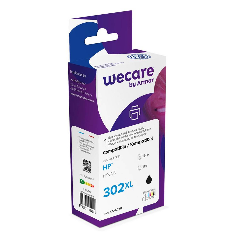 weCare Cartridge HP 302XL Zwart