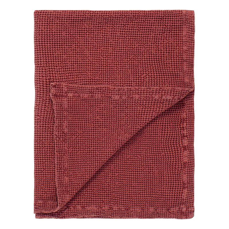 Marc O'Polo Viron plaid - 100% katoen - 130x170 cm - Soft red