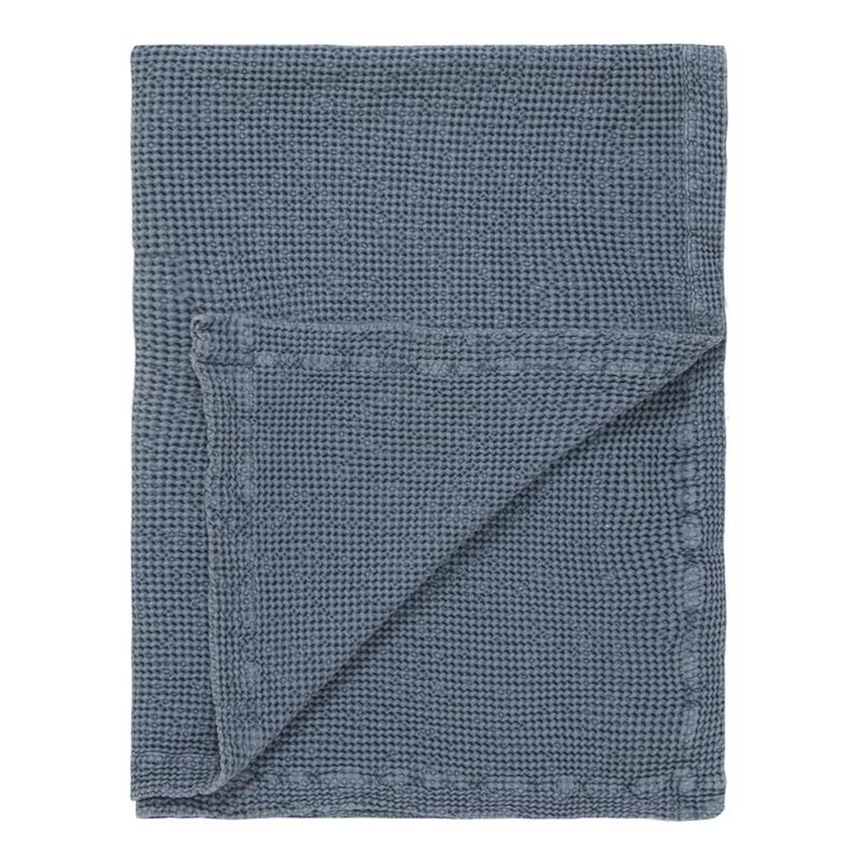 Marc O'Polo Viron plaid - 100% katoen - 130x170 cm - Blue