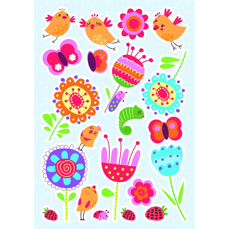 Kids Decor muurstickers Birds & Flowers 47 x 70 cm