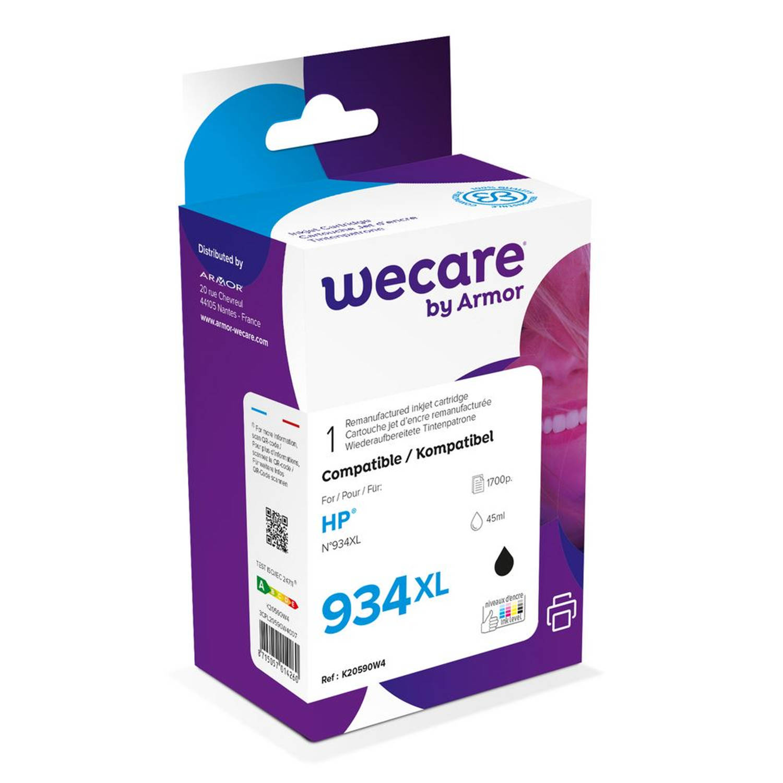 weCare Cartridge HP 934XL Zwart