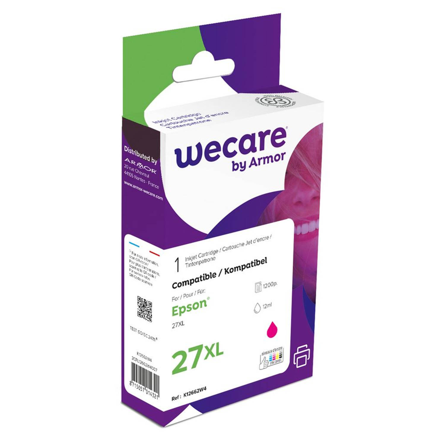 weCare Cartridge Epson T271340XL Rood