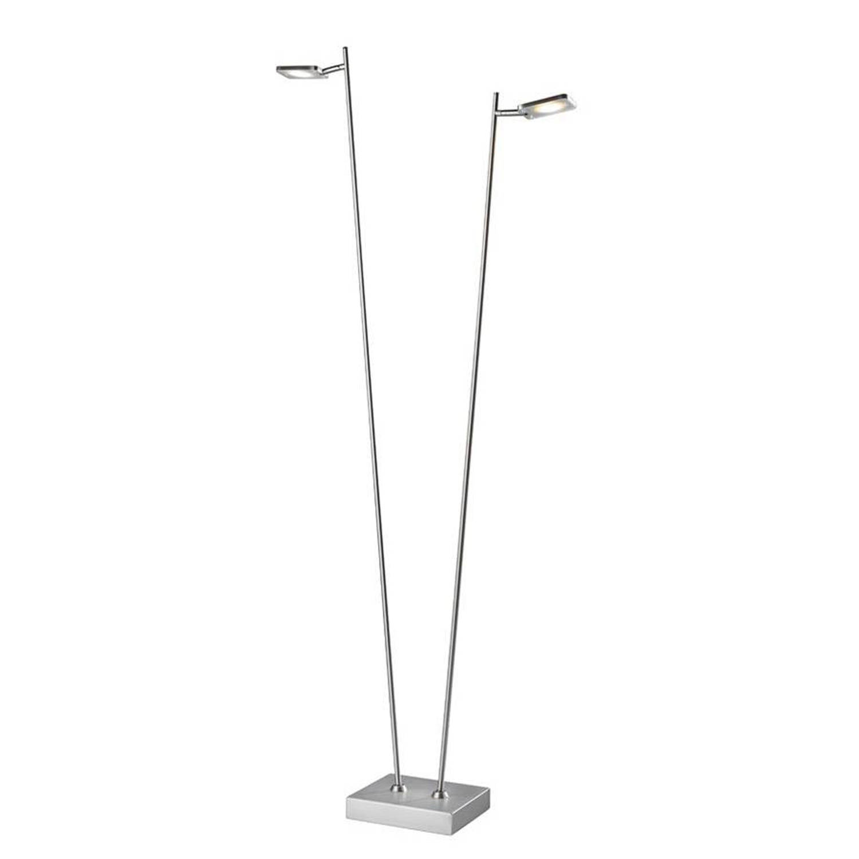 Vloerlamp Block RVS Led 2Lichts