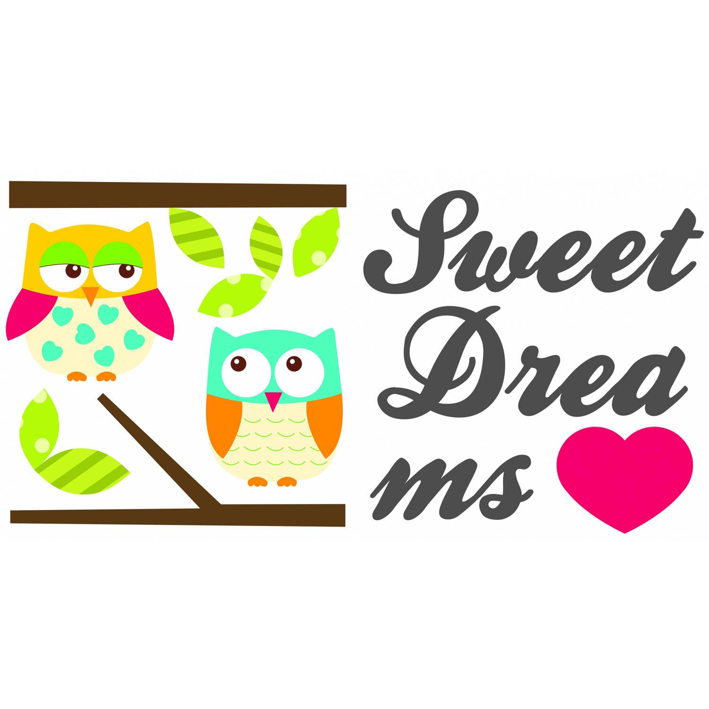 Kids Decor muurstickers sweet dreams glow in the dark
