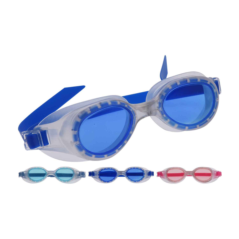 Free and Easy zwembrillen 3 stuks blauw/roze