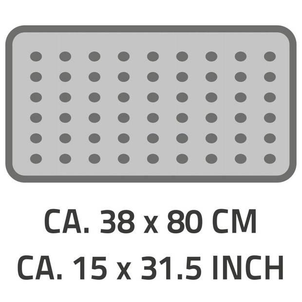RIDDER Badmat anti-slip Playa 80x38 cm zwart 68310