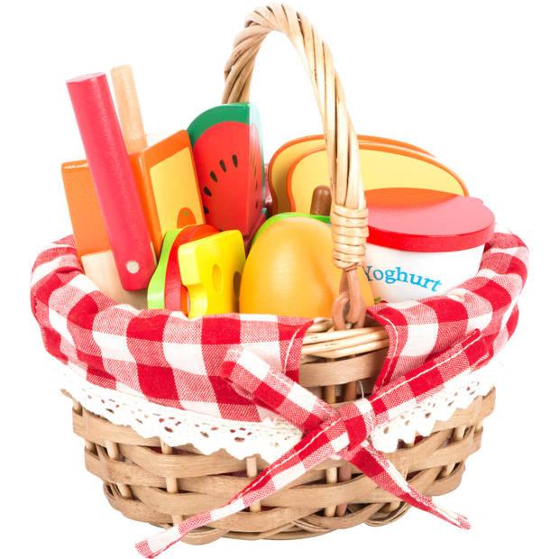 Small Foot picknickmand met eten 10-delig 16 cm