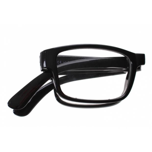 Lifetime-Vision leesbril opvouwbaar unisex zwart sterkte +2.50