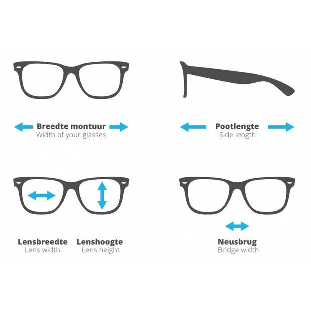 H2Optics leesbril zonder frame unisex grijs sterkte +1,50